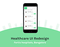 Fortis Healthcare | UI Redesign