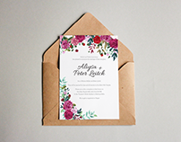 Aliysa & Peter's Wedding Invitations