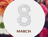 Corporate GIF for Women's Day. 8 March