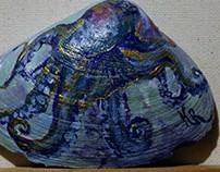 Seashell paintings