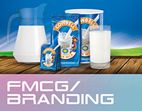 FMCG and Branding Collateral for Cowbell Milk