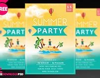 Summer Party Flyer Template + Social Media Post