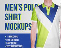 Men's Polo Shirt Mockups