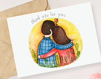 Thank You for You illustration