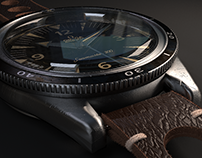 Omega Seamaster : Blender 3D