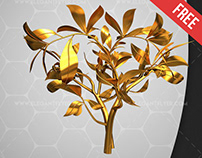 Golden Twigs – Free 3d Render Templates