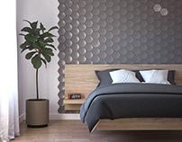 3D concrete tile #2, brand ASHOME