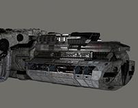 Sci Fi Spaceship textured version