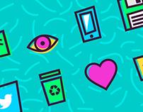 90's free icons set