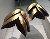 Hammered Brass Lights