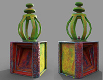 3D Visualization of Traditional Oil Lamp