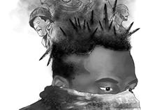 ilustraciones en gris