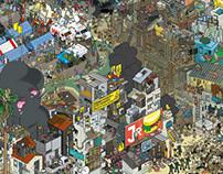 Poverty is modern/pixel art