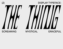 THE THING TYPEFACE