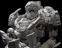 """""""Vepr"""" combat robot - 3d toy model"""