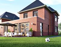 3D interieur - Exterieur | Vrijstaande villa's Limmen