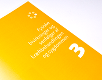 Design concept for brochures, Danish Cancer Society