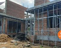 Thi công xây dựng nhà biệt thự vườn 2 tầng mái thái