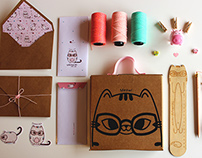 Pochoclo The Cat - Kit Stationery
