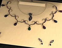 Jewelry Set - Modeling training in Rhinoceros