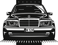 Mercedes-Benz W124 illustration