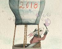 Felicitaciones de Año Nuevo_ Habichuela Ilustración