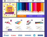 Hits stationery- UI/UX design and E commerce