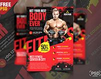 Gym Fitness Promotion Flyer PSD