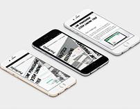 UX designer's portfolio concept