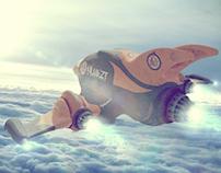 3D. Spaceship