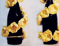 Habillage bouteille de vin