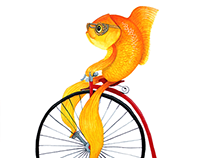 Penny Farthing Fish