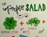 Hand-lettered Salad Recipe