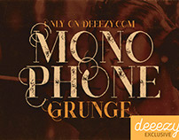 Free Font - Monophone Grunge