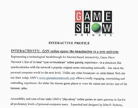 """Game Show Network - """"Interactive Profile"""" media kit"""