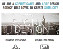 Bjonk Design Responsive Website