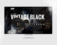 ESP Guitars website redesign. Identity