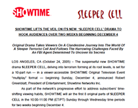 """""""SLEEPER CELL"""" series press kit for Showtime Networks"""