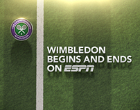 ESPN Wimbledon Design at Cake Studios