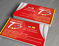 7days market business card