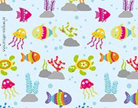 """Muster """"Unterwasserwelt"""""""