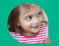 Enfant identidade de clínica pediátrica