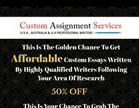 Affordable Custom Essay, Assignment Writing
