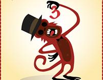 Monkey + red
