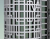 Modelado de las Torres de Hércules, Barcelona.