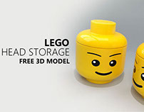 FREE 3D MODEL - HEAD STORAGE by LEGO