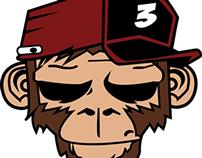 Monkey + red 2