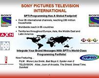 Designed & produced Sony Networks slide presentation.