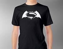 Batman v Superman: Dawn of Justice - T-Shirt Design