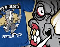 Return To Strength Festival - Shirt Design